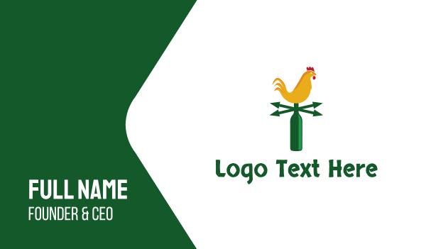 bottle - Chicken Weather Business card horizontal design