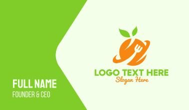 Orange Fruit Planet Business Card