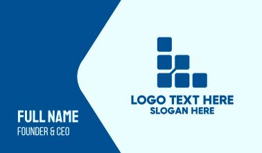 Digital Square Letter L Business Card