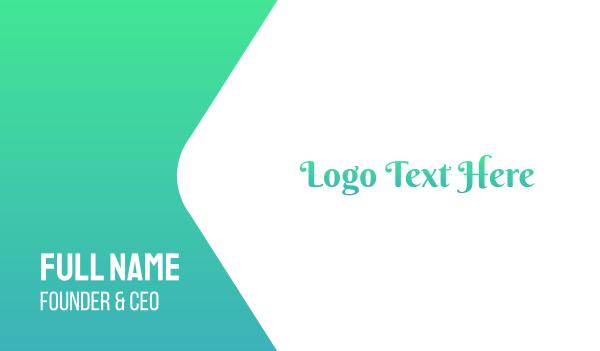 princess - Turquoise Cursive Text Font Business card horizontal design