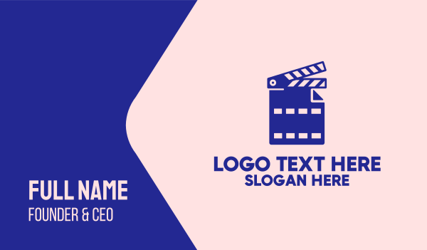 scene - Movie File Clapperboard Business card horizontal design