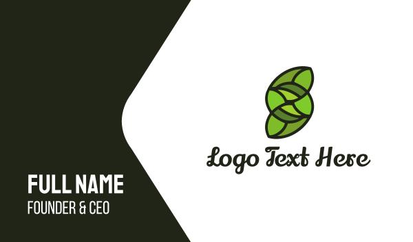 synergy - Green Letter S Business card horizontal design