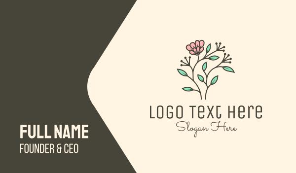 sunflower - Feminine Flower Plant Business card horizontal design