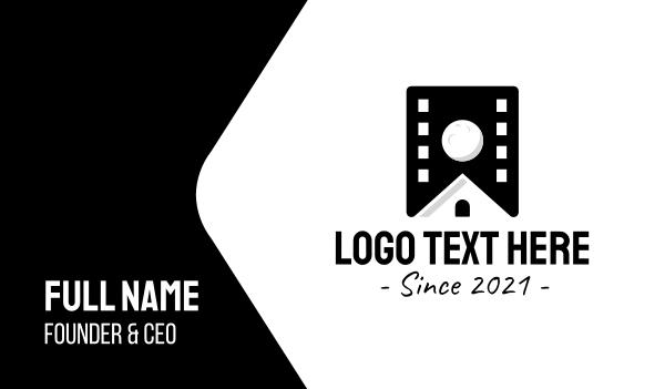 movie house - Film House Studio Business card horizontal design