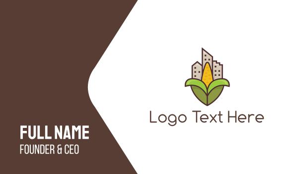 green city - Corn City Business card horizontal design