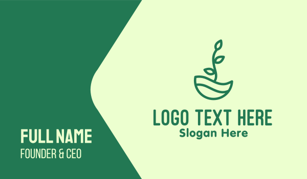 pot plant - Green Natural Eco Plant Business card horizontal design