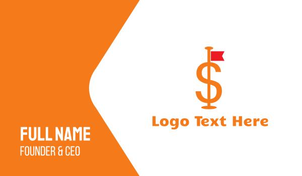 rate - Dollar Flag Business card horizontal design