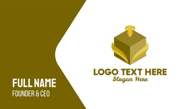high end - Elegant Gift Box Business card horizontal design
