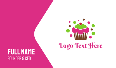 Colorful Cupcake Business Card