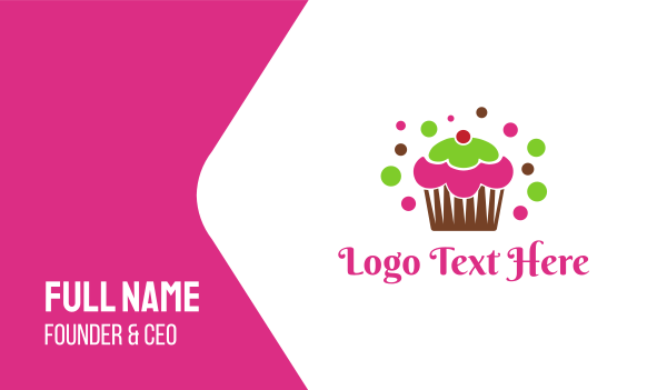 muffin - Colorful Cupcake Business card horizontal design