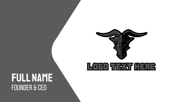draco - Black Dragon Gaming Business card horizontal design