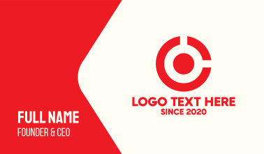 Target Circle Letter C Business Card