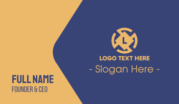 small business - Corporate Lettermark Business card horizontal design