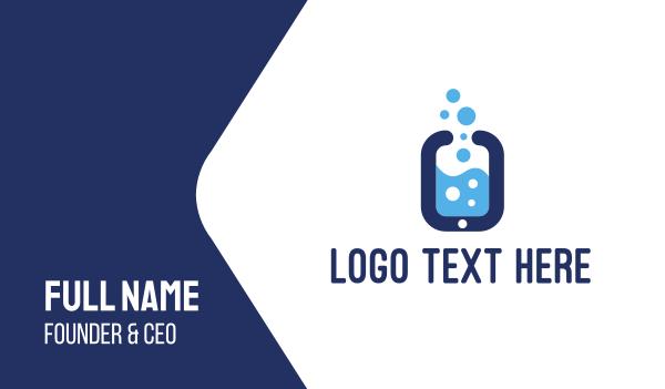 steam - Smartphone & Bubbles Business card horizontal design