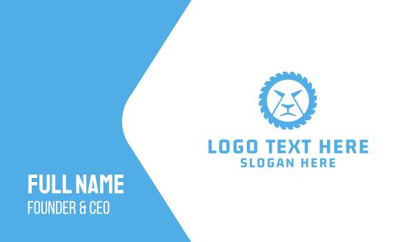 blue lion - Lion Wheel Business card horizontal design