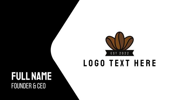 flavor - Coffee Bean Cafe Business card horizontal design