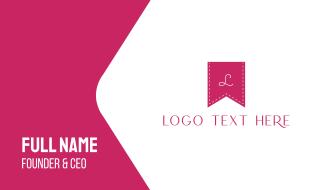 Pink K Flag Business Card