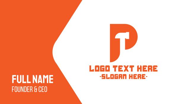 joinery - Hammer Letter P Business card horizontal design
