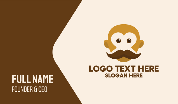 grooming - Old Mustache Barber Business card horizontal design
