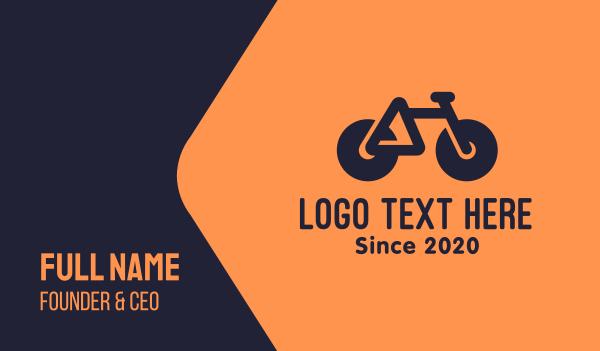 bike parts - Modern Geometric Bike Business card horizontal design