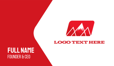 Red Mountain Alps Business Card