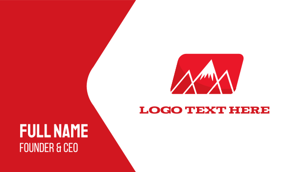 red mountain - Red Mountain Alps Business card horizontal design
