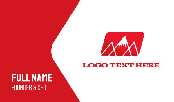 ski - Red Mountain Alps Business card horizontal design