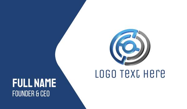 business software - Tech Maze Business card horizontal design