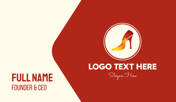 passion - Hot Heels Store Business card horizontal design
