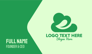 Green Eco Cloud Business Card