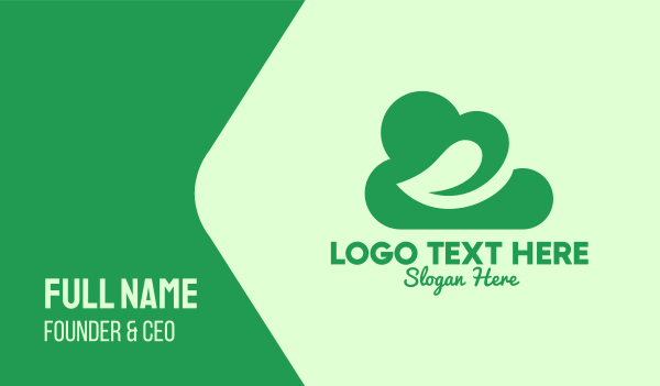 cloud service - Green Eco Cloud Business card horizontal design
