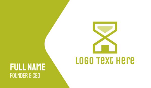 minute - Hourglass House Business card horizontal design