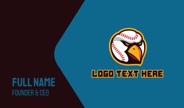 Baseball Eagle Hawk Business Card
