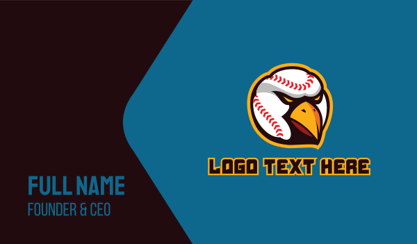 sports team - Baseball Eagle Hawk Business card horizontal design