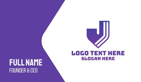 webpage - Modern J Business card horizontal design