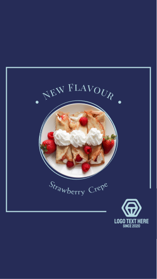 Strawberry crepe Facebook Story