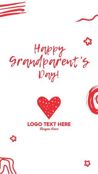 Happy Grandparents Scribble Facebook story