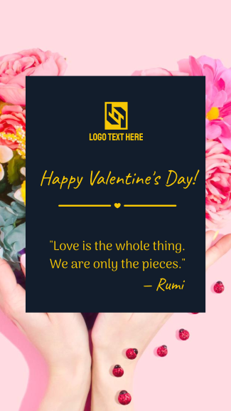 Valentines Quote Facebook story