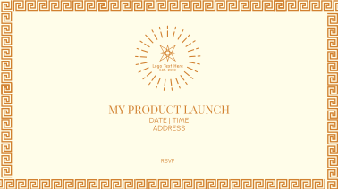 Art Deco Product Launch Facebook Event Cover