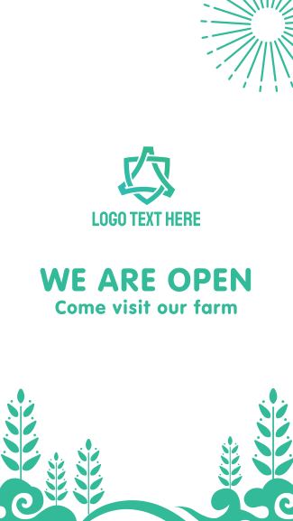 Farm Welcome Page Facebook story