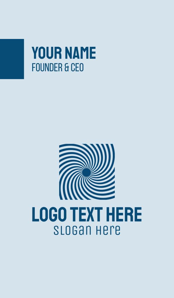 Blue Optical Illusion Business Card