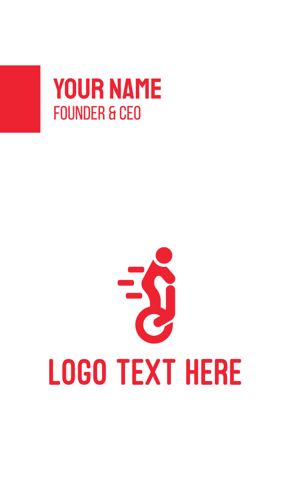 Electric Unicycle Business Card