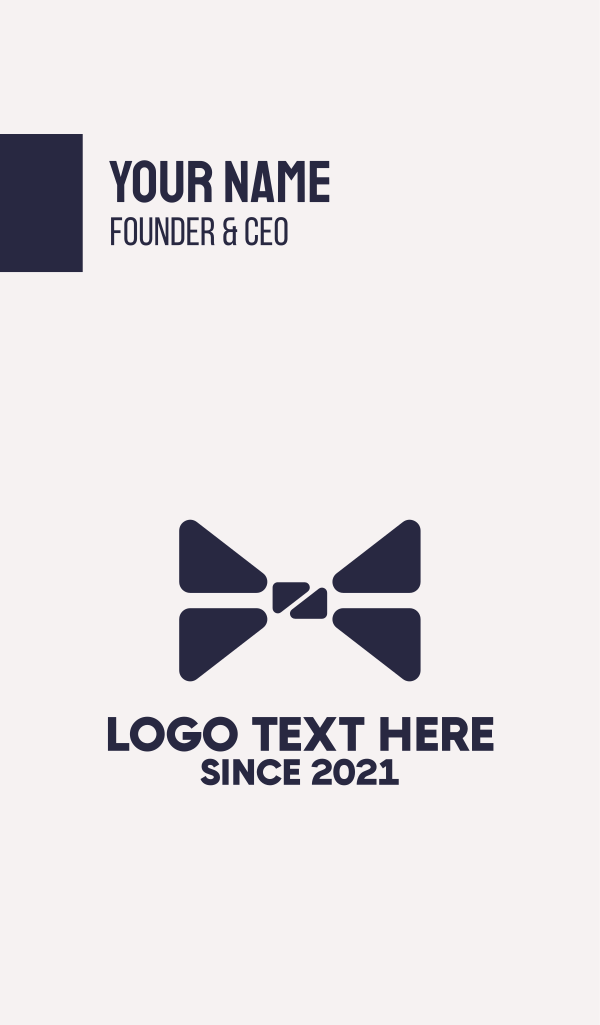 Blue Bow Tie Fashion Business Card