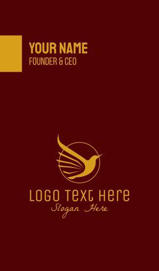 Golden Flying Bird Business Card