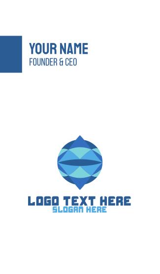 Crystal Circle Globe Business Card