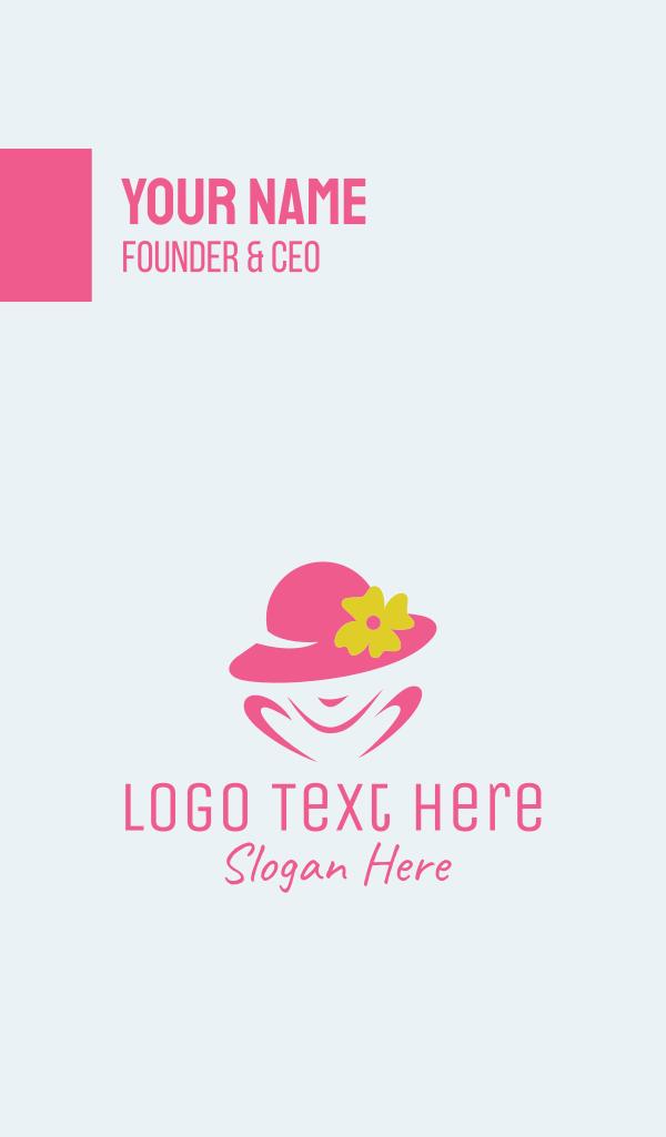 Women's Fashion Hat Business Card