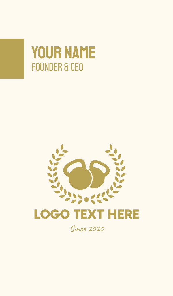 Gold Fitness Gym Business Card