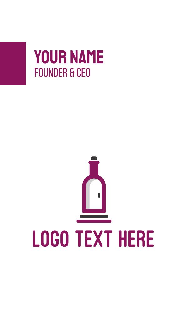 Wine Bottle Cellar Door Business Card