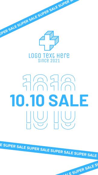 10.10 Super Sale Tape Facebook story