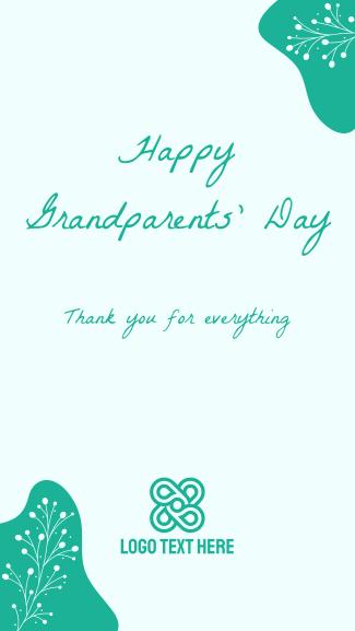 Floral Grandparents Greeting Facebook story